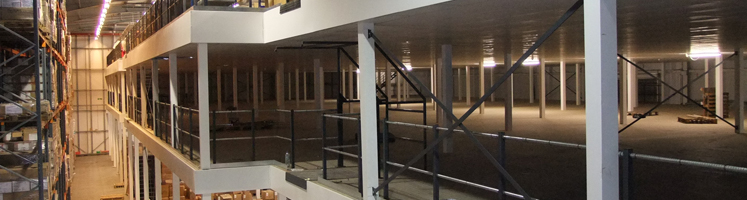 Mezzanine flooring warehouse solution